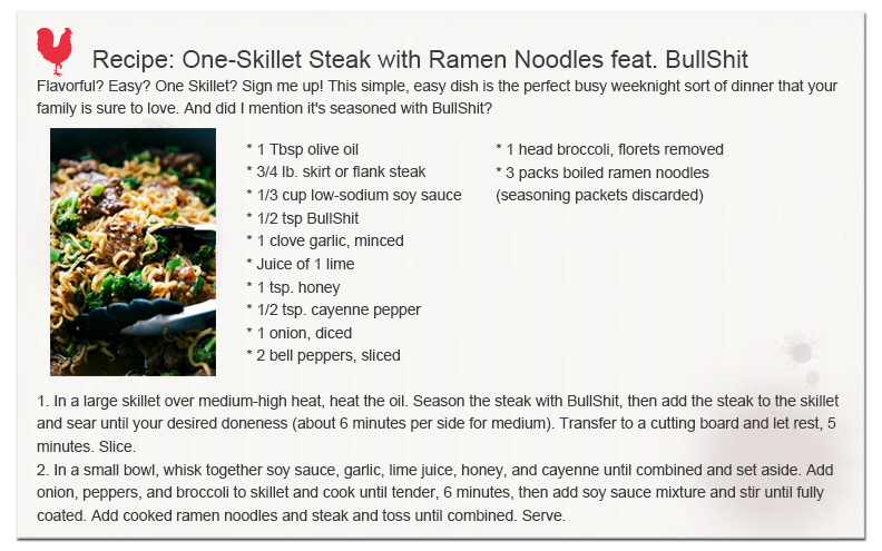 One-Skillet Steak with Ramen Noodles recipe